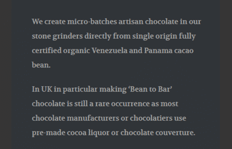 cenu cacao ingredients mobile view