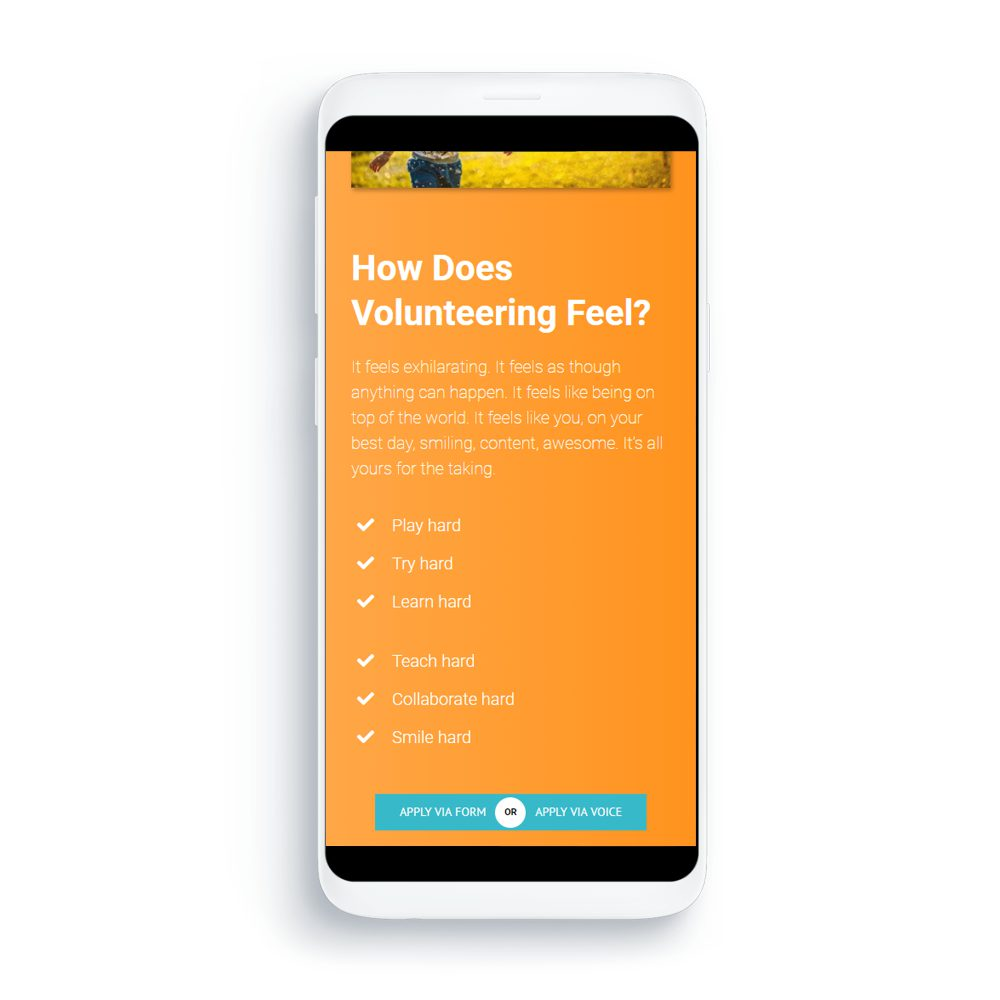 Imagineering Mobile Volunteers Mockup 1point3creative