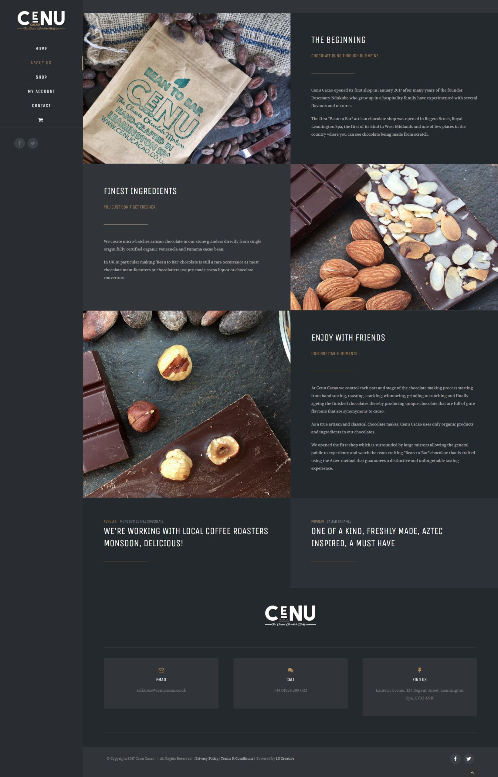 cenu cacao about us page 1point3creative